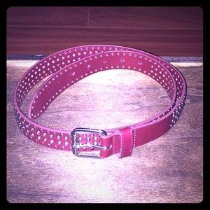 👑Gap Studded Leather Belt Sz. Small-Medium EUC